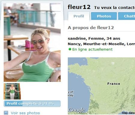 Photos de faux profils sur les sites de rencontre